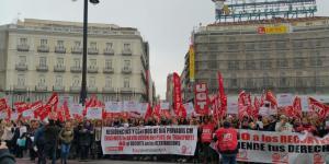 Ahora,en Sol, se manifiestan  trabajadores de residencias