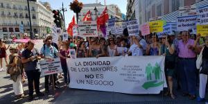 Manifestación en Pta. Sol