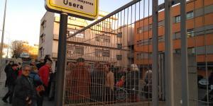 Foto concentración residencia Usera - Cristo de la Victoria