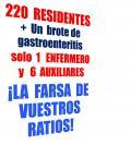 ¡Un solo enfermero para 220 residentes!