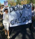 Manifestación en de familiares y residentes en Alcorcón